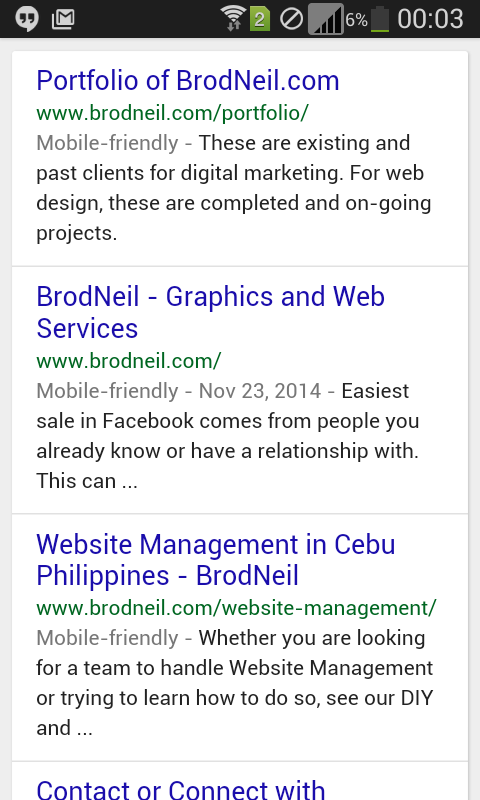 mobile-friendly label in google serps